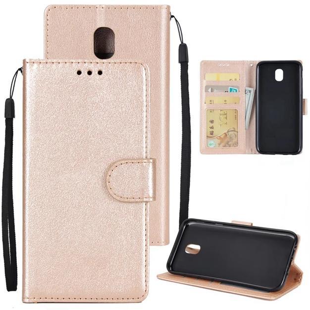 Korea Litschibügel Brieftasche Ledertasche Für Samsung Galaxy S8 S9 PLUS S6 KANTE S7 S5 J3 J5 Prime A3 A5 A7 J7 2017 Ständer Foto ID Karte Abdeckung