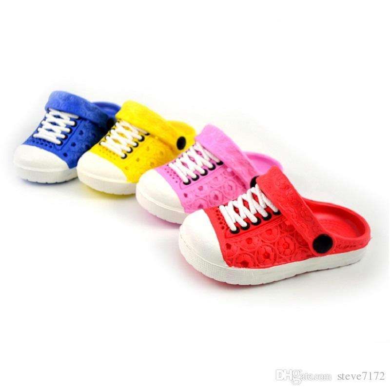 Hooyi Baby Boy Shoes Children Sandals Hollow Girls Moccasins Fashion Slippers Kids Clogs Hot Sale Toddler Sneakers 13-18CM