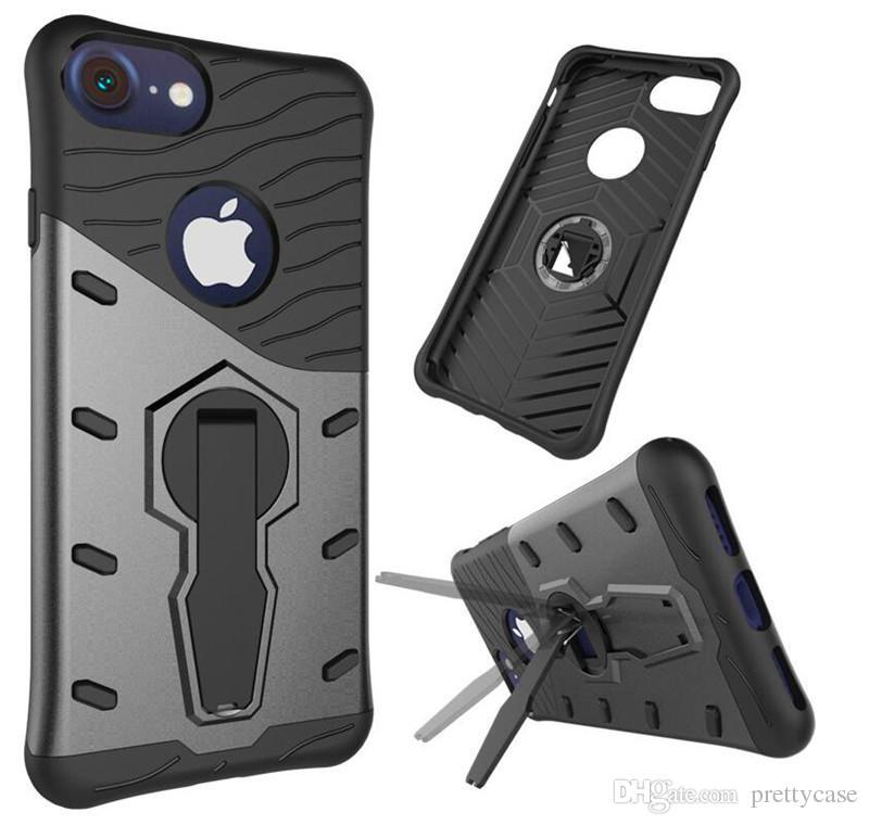 Pour iPhone x 7 plus Sniper Hybrid Armor Case 360 degrés support de support de rotation double pour iphone 5s 6 6s plus samsung s8 s8 plus s7