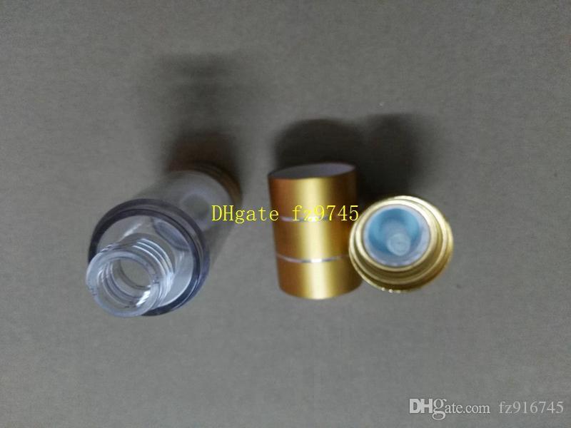 100 шт. / лот 15 мл 30 мл золото безвоздушного бутылка вакуумный насос Лосьон косметический контейнер для путешествий многоразового бутылки