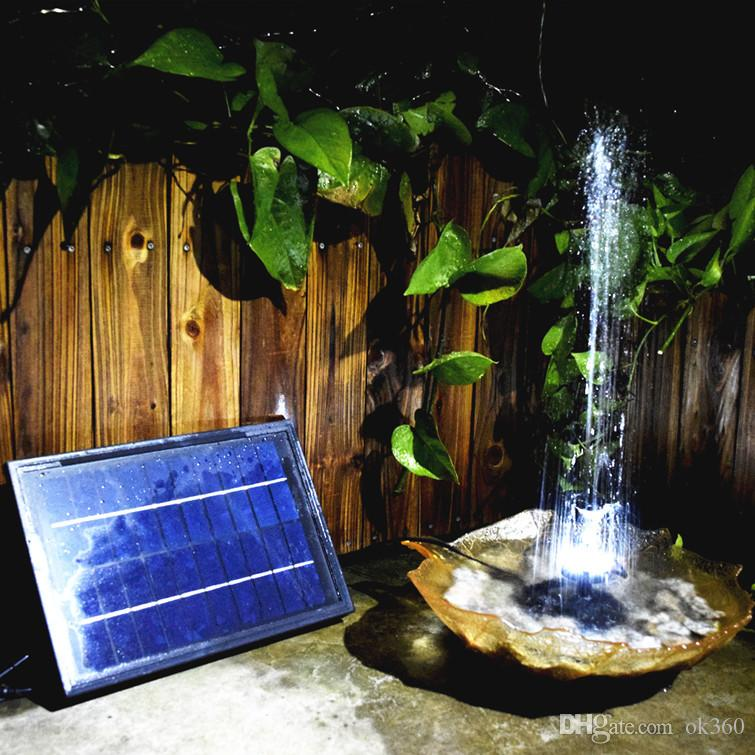 12V 5W Water Pump Solar Power Brushless Built-in Battery Remote Control Submersible Pump Fountain for Garden Pond
