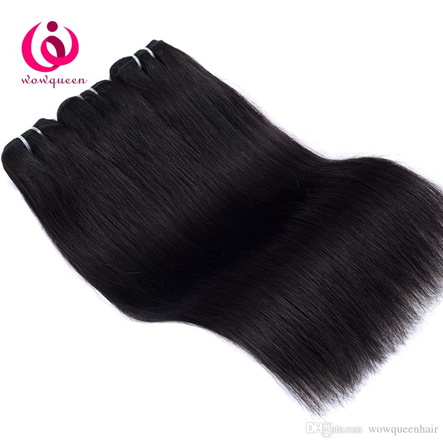 Indian Straight Hair Weave Bundles 8-28inch Wow Queen Hair No Shedding No tangle Cheap Whoelsale Price Indian Virgin Hair