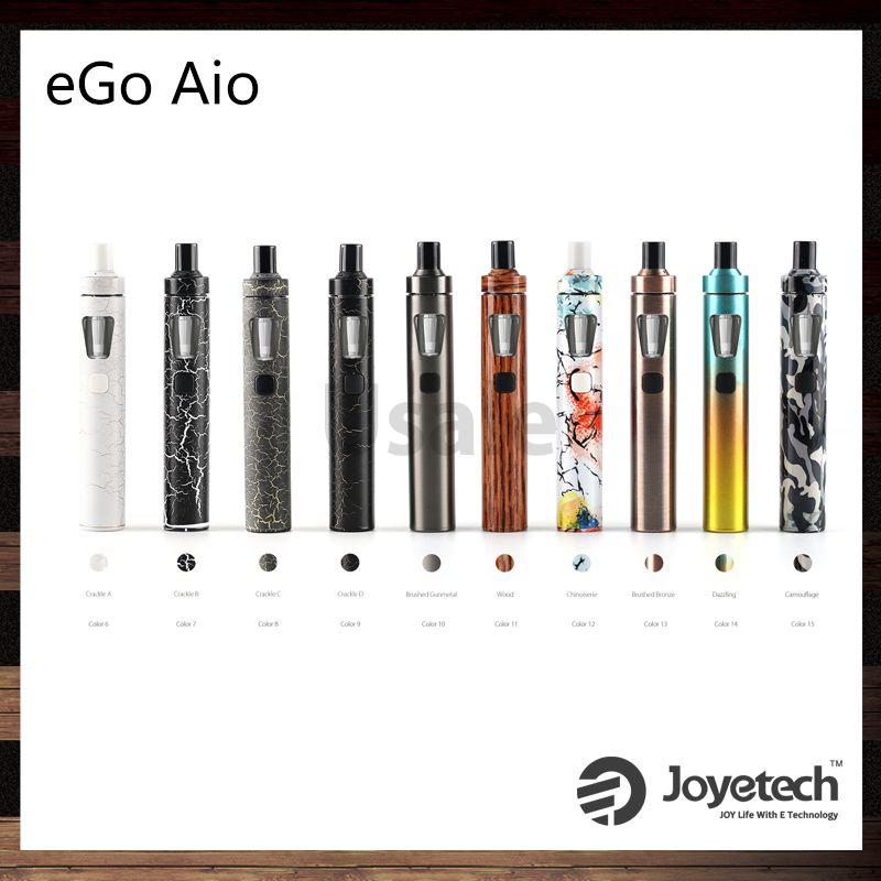 Joyetech eGo AIO Kit con 2.0ml Capacidad 1500mAh Batería Estructura anti-fugas y Cerradura a prueba de niños 10º aniversario Edición 100% original