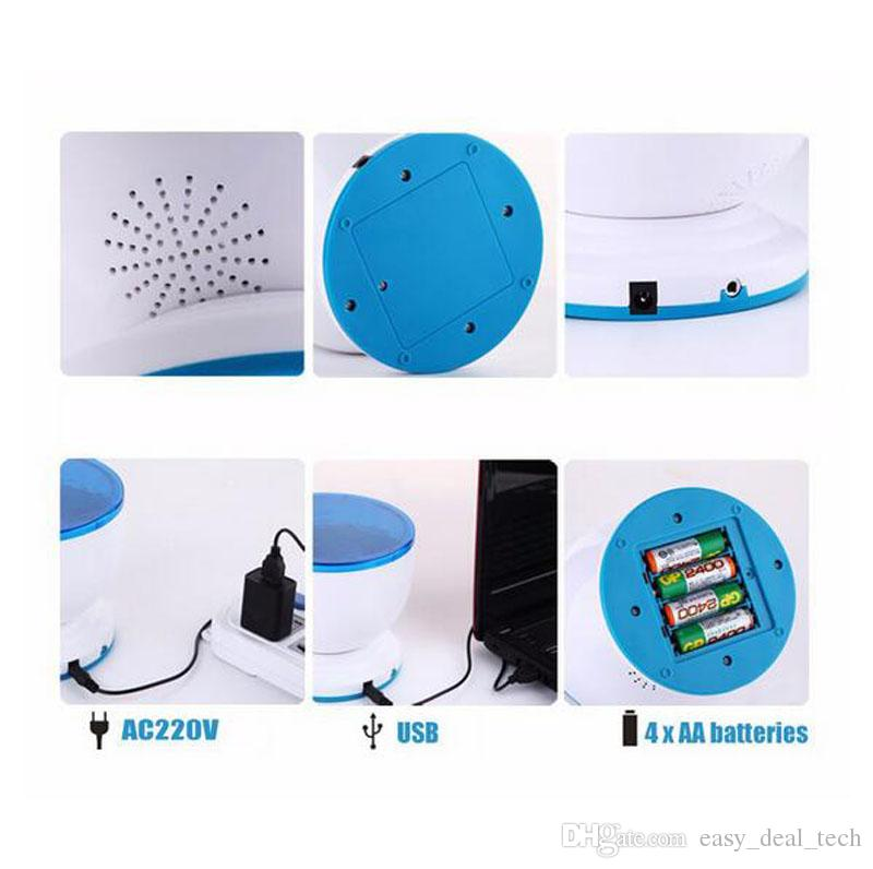 Sea Waves Ocean Nigh Light Projection Lamp USB LED Projector with Speaker MINI Wave Aurora Master Novelty Light Wholesale ZJ0026