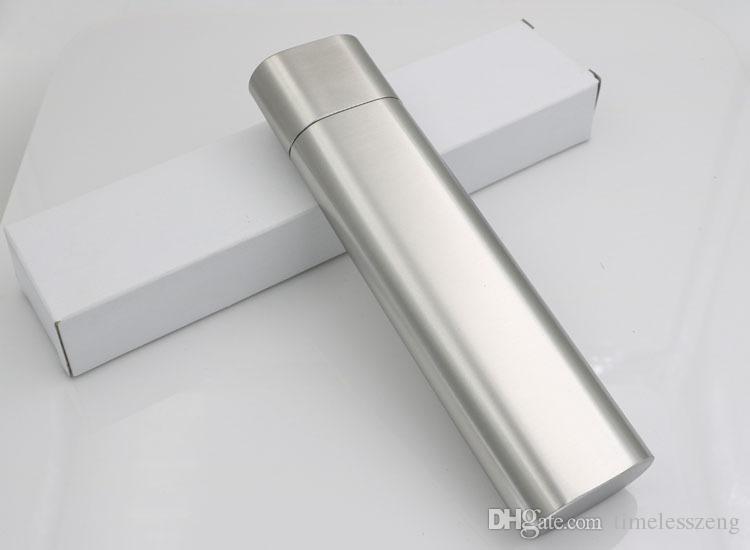 Hochwertige tragbare Doppelschlauch Zigarre und Weinschlauch 2 Unzen Edelstahl Flachmann Zigarre rauchen Set New arrivel