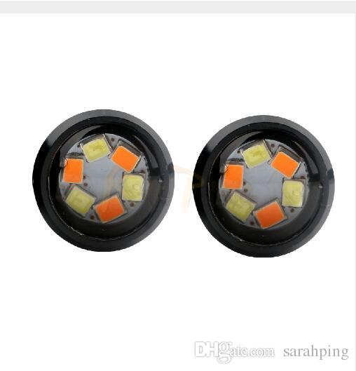 Eagle Eye Lights 6SMD Car LED Motor DRL Lampes de signalisation de clignotant Lumière de secours Light Car Auto Lampe Dual color 12v DIY Style