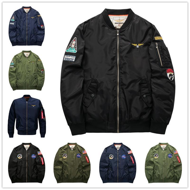 2017 Fall Flight Pilot Jacket Coat Bomber Ma1 Men Bomber Jackets ...