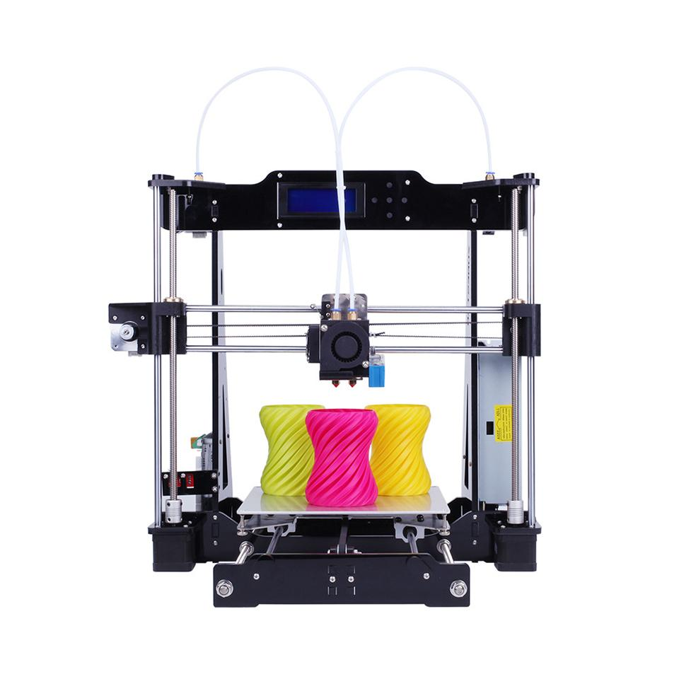 Stampante 3D Dual Extruder Auto livellamento a due colori Reprap Prusa i3 stampante 3D Kit fai da te ZONESTAR P802N o P802NR2