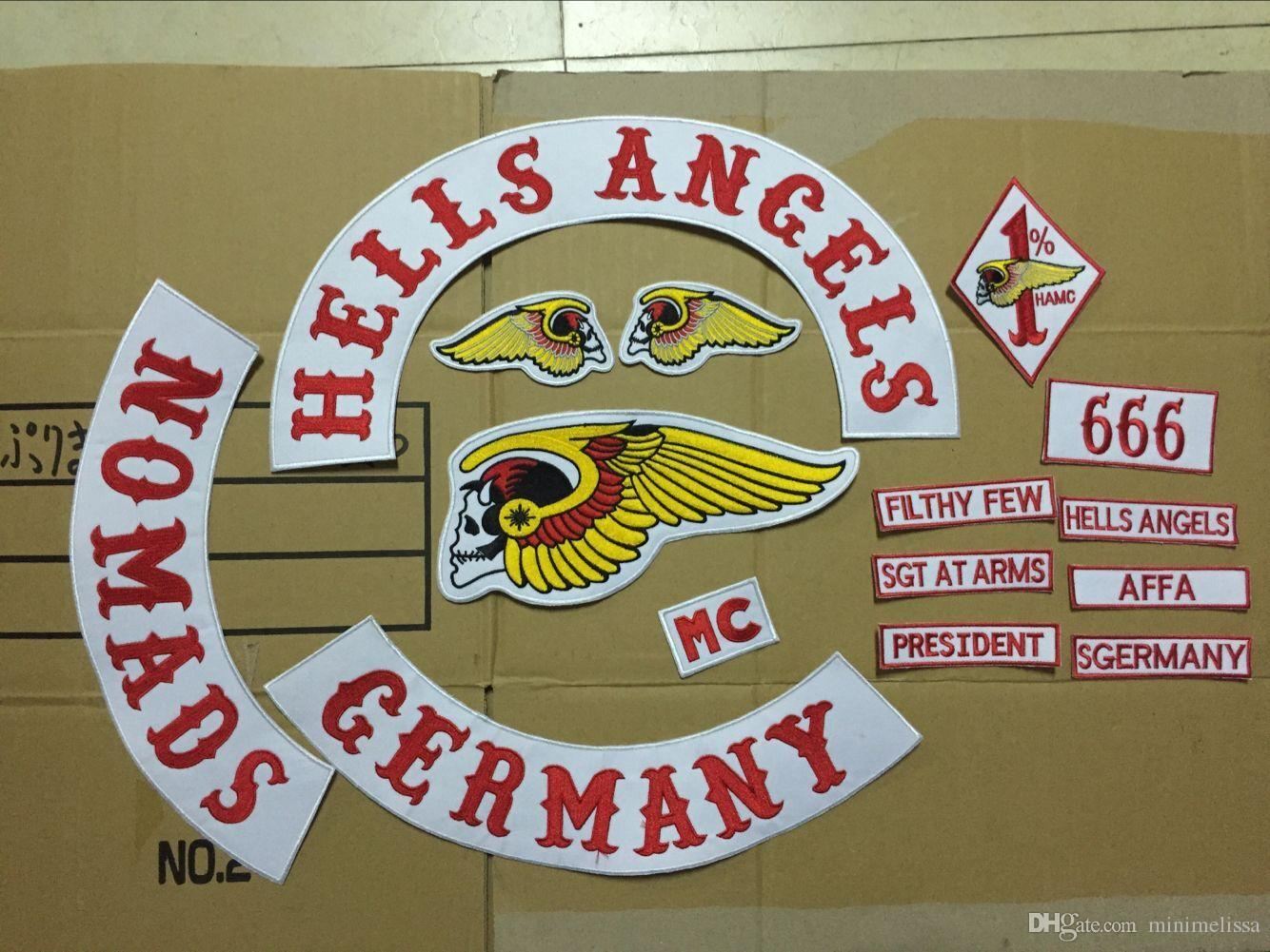 2017 dhl free hells angels iron on patches motor club. Black Bedroom Furniture Sets. Home Design Ideas