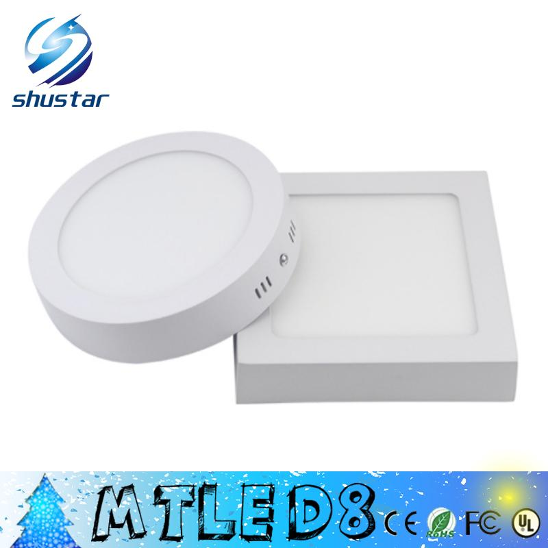 Dimmable 9W 15W 21W 25w Round / Square Led Panel Light Surface Mounted Led Downlight lighting Led ceiling spotlight AC 110-240V + Drivers