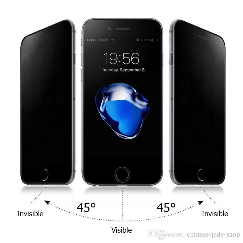아이폰 XS XR XS MAX 6 7 8 6 플러스 7 플러스 8P 5 5S SE 9H 프라이버시 강화 유리 안티 스파이 스크린 프로텍터 / 간단한 opp