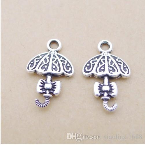 A1103 argento antico 80 / borsa accessori ombrello in lega all'ingrosso, produttori di accessori gioielli fai da te diretti 1,1 grammi