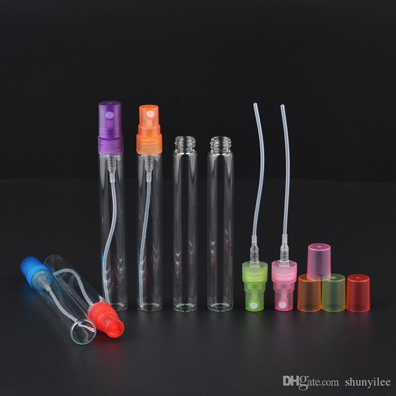높은 품질 유리 향수 스프레이 병 10 ml 여성 6 F201707에 대 한 6 색 립 refillable 작은 분무기 atomizer