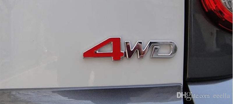 3D ABS سيارة ملصق كروم 4X4 SUV مضحك DIY 4WD شعار شارة ملصق مائي 4WD الرياضة زينة للحصول على ملصق تويوتا نيسان فورد VW
