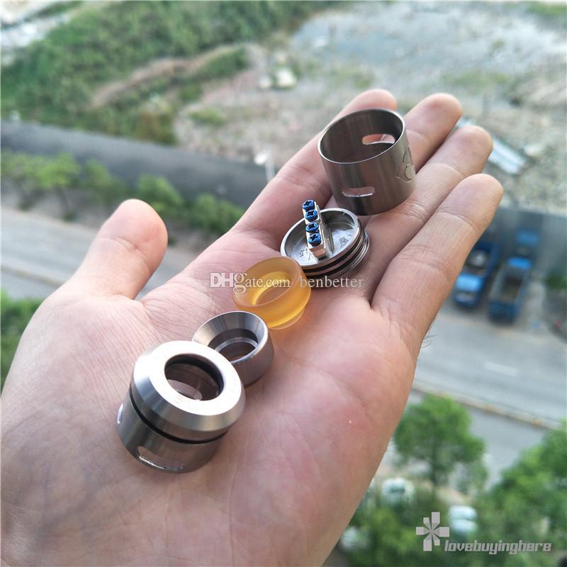 528 titane personnalisé Goon V1.5 RDA 24mm avec 510 atomiseurs Mod Vape fil avec extra PEI Drip Epacket livraison gratuite
