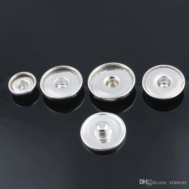 Minimaler Auftrag 100 teile / los 18mm Ingwer Snap Basis Austauschbare Zubehör für Schmuck Druckknopf Basis ZM032
