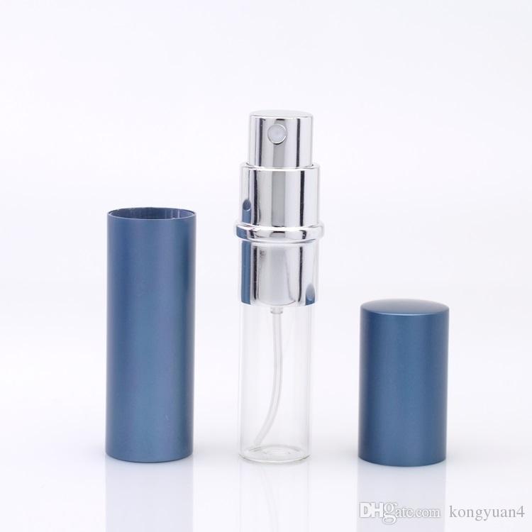 Hohe Qualität 10ml Aluminium Glasflasche 10ML Geschenk Parfümflaschen Hochwertige nachfüllbare Mini-Duftflasche Parfümzerstäuber Leere Flasche