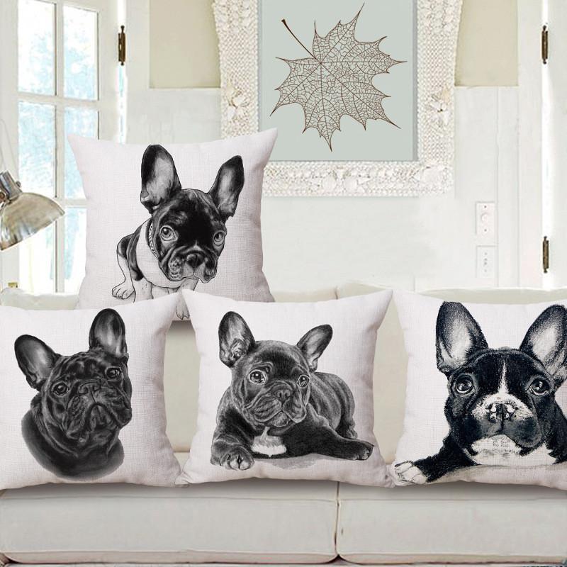 Wholesale Square 40 Boston Terrier Decorative Pillow Covers Black Impressive Boston Terrier Decorative Pillow