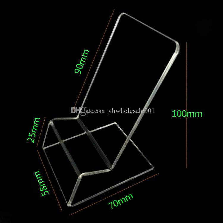 Acrylic Cell phone mobile phone Display Stands Holder stand for 6inch iphone samsung HTC huawei