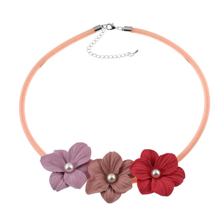 New statement necklaces fashion Flower Choker necklace Shourouk Chain Rhinestone Retro Fashion Necklaces & Pendants Jewelry For Women