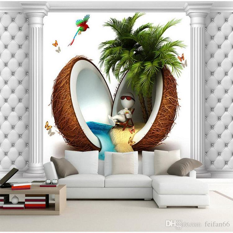 Creative Custom 3D Photo Wallpaper HD Sea View TV