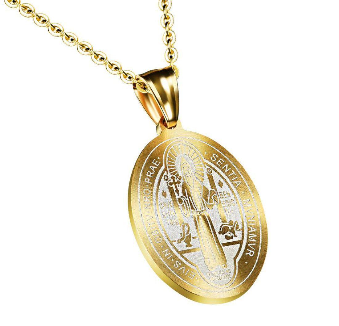47ac28a158f Compre Medalla De San Benito De Acero Inoxidable Colgante De Joyería  Cristiana Cruz Cristiana A  8.05 Del Amoz