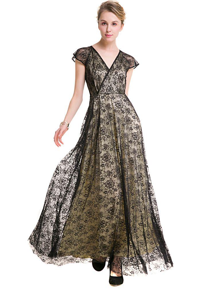 Summer Maxi Dress 2017 New Women V Neck Sleeveless Lace Organza ...