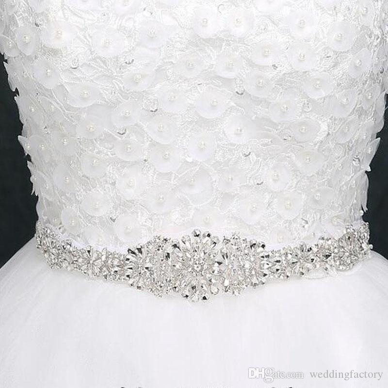 2018 2017 Rhinestone Wedding Belt Wedding Sashes Belts Bridal Belts ...
