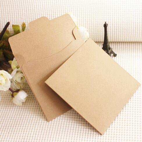 125125cm kraft paper cd sleeve discs dvd packaging bag box retail cd case cover holder envelope for wedding event bridal shower gift wrapping paper