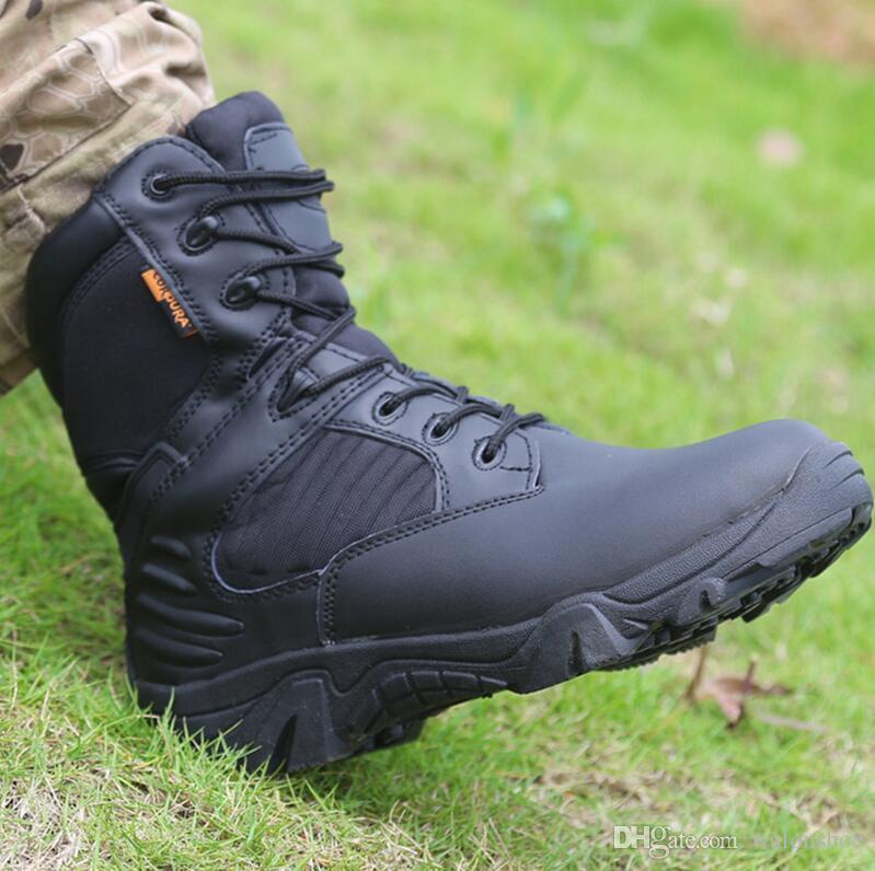 Winter Autumn Men Military Boots Quality Brand Special Force Tactical Desert Combat Boats Outdoor Shoes Leather Snow Boots