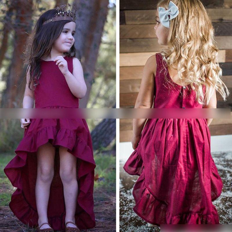 2018 Bohemia Fashion Baby Girls Dress Irregular Party Dresses Kids ...