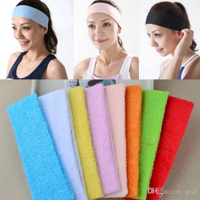 bestbewertet billig suche nach original überlegene Leistung Mode Frauen Herren Sport Stirnband Baumwolle Haarband Stretchy  Schweißbänder Yoga Gym Haar Kopf Band Damen Haarschmuck Kostenloser versand