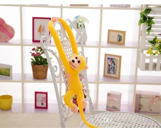 70cm long arm monkey from arm to tail plush toy colorful monkey curtains monkey stuffed animal doll for kids toys gifts