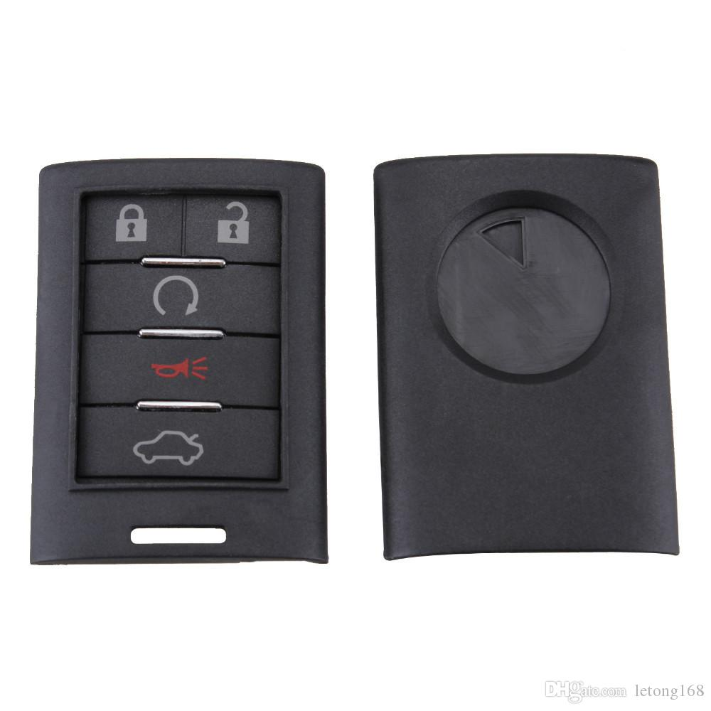 Guaranteed 100% No Chip Remote Car Key Case Entry Flip Fob Cover for Cadillac Insert Uncut Blade New Replacement Car Key Shell