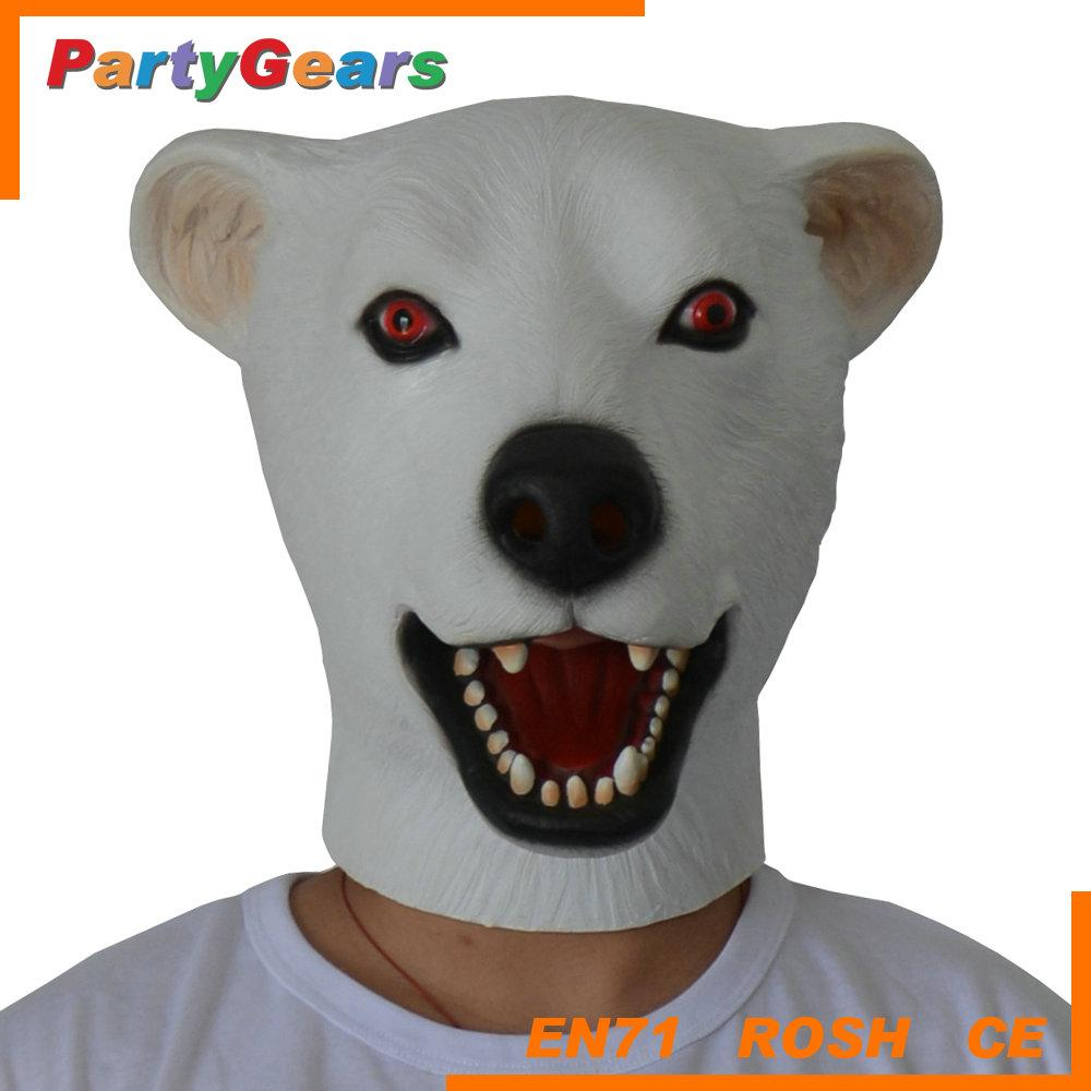 Design Your Own Mask Online Latex Polar Bear Mask Christmas Party ...
