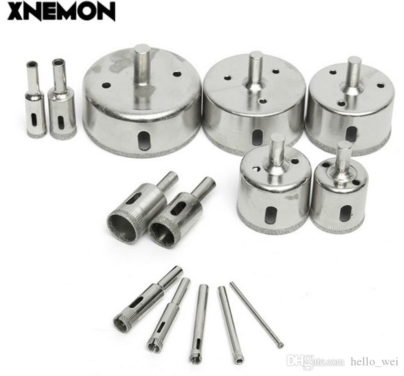 XNEMON Diamond Hole Saw Coated Core Drill Bit Set Tile Marble Glass 3-70mm Cutter 3 5 6 8 10 12 16 18 20 30 40 50 60 70mm