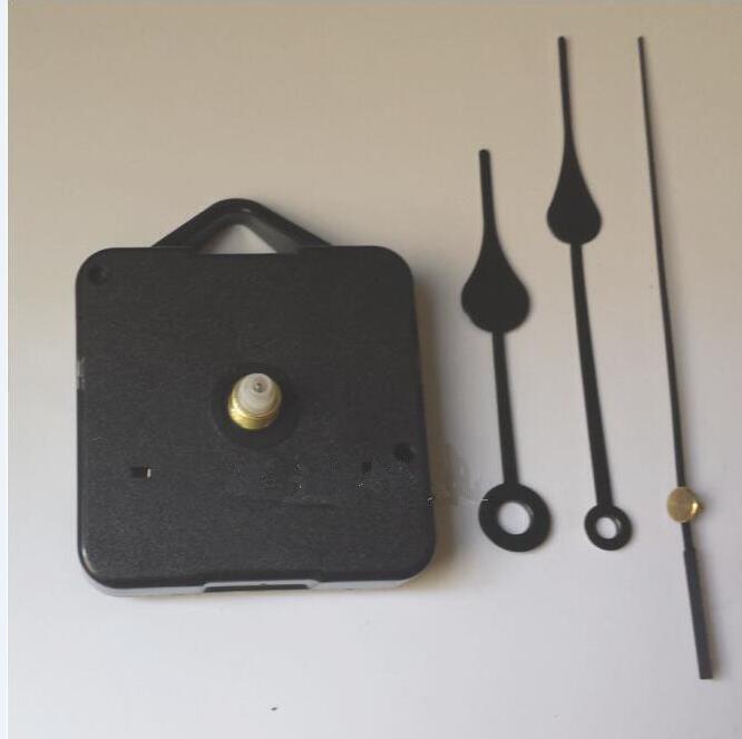 Home Uhren DIY Quarzuhrwerk Kit Schwarz Uhrenzubehör Spindelmechanismus Reparatur mit Zeigersätzen Wellenlänge 13 Best