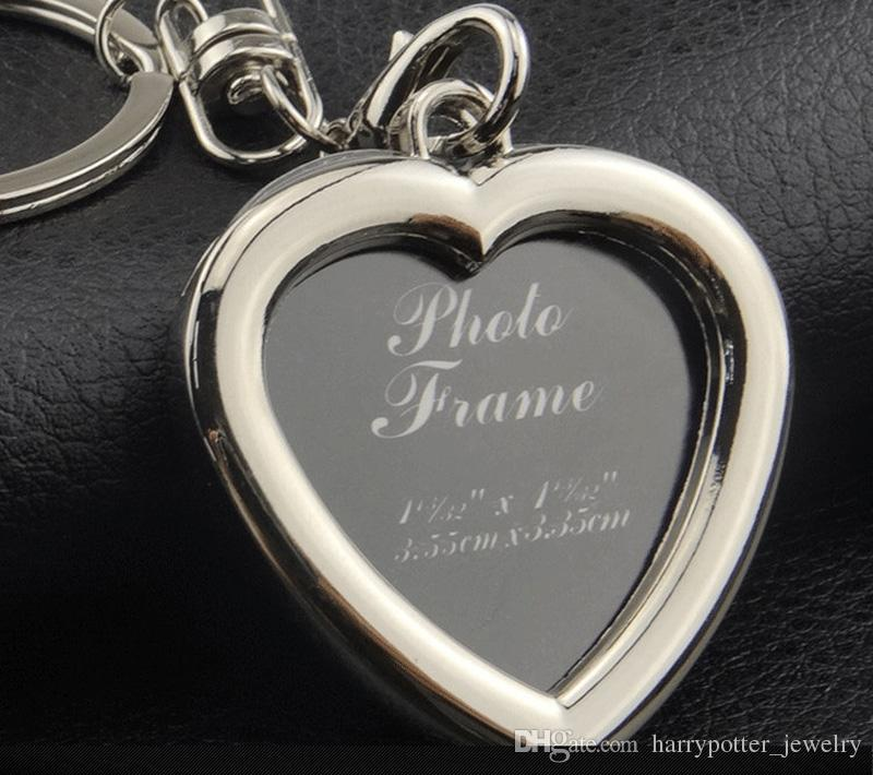6 models photo frame keychain alloy locket lover picture key chain key rings heart apple pendants for women men anniversary present 240241