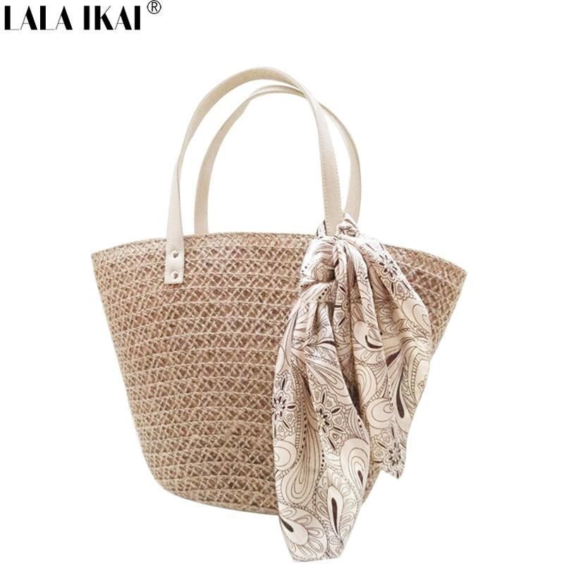 Wholesale-New Fashion Summer Beach Bag Popular Straw Handbags with ... 7c12c804c189d