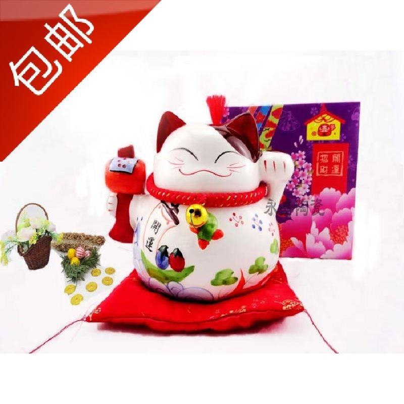 2019 Lucky Cat Piggy Bank Decoration Large Ceramic Cat Opened Shop