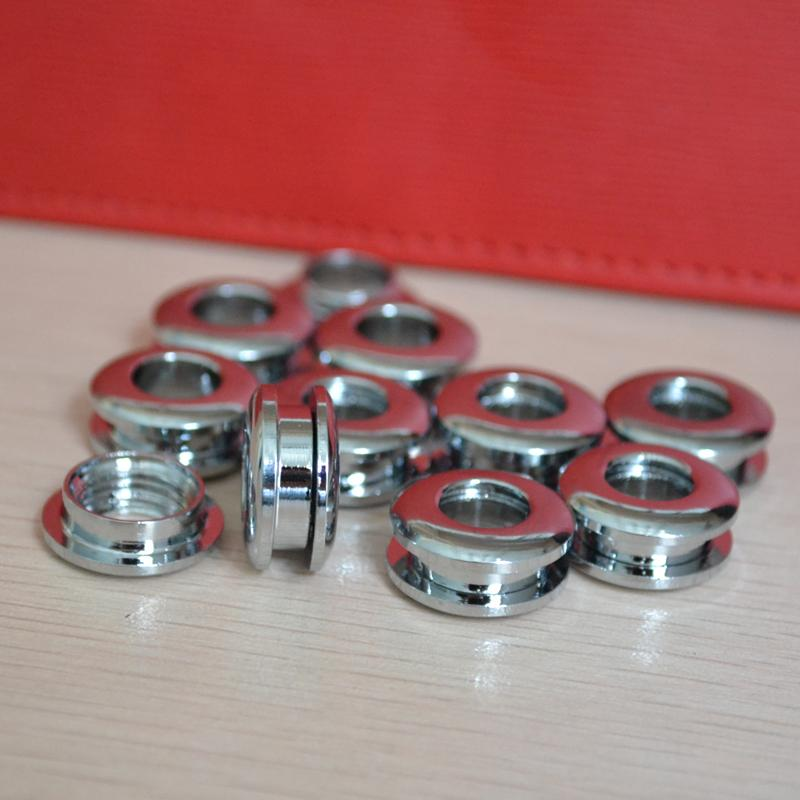 10 pezzi occhielli in ottone foro gas vite attacco filettato occhiello borsa fai da te parte hardware anello di stoffa fatti a mano foro fibbia