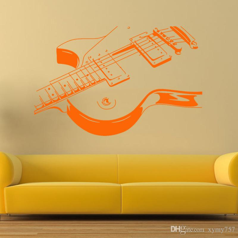Cool Graphics Art Guitar Wall Stickers Diy Home Decorations Music ...