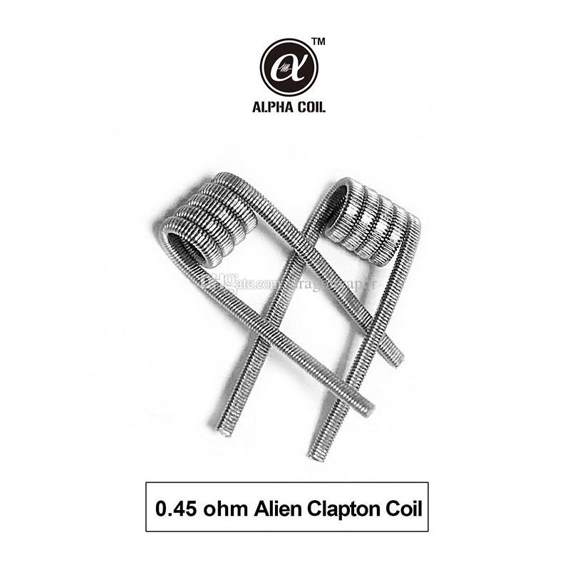 100 % 오리지널 SMOKJOY Alpha 6 in1 Pre-Built 코일 가열 저항 전선 타이거 Alien Fused Clapton 플랫 믹스 트위스트 코일 48 개 / 박스