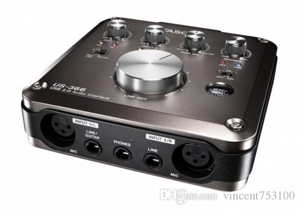 Tascam us-366 USB audio interface with On-Board DSP Mixer 4 in 4 out sound card High-Quality HDDA Mic Pre-AMPS with optical port