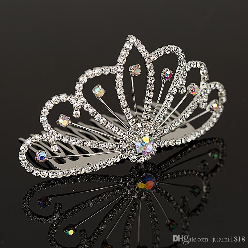 Fashion Girls Womens Crystal Elegant Silver Wedding Bridal Hair Comb Hair Pin Clip Clothing Accessories Jewelry Free H005