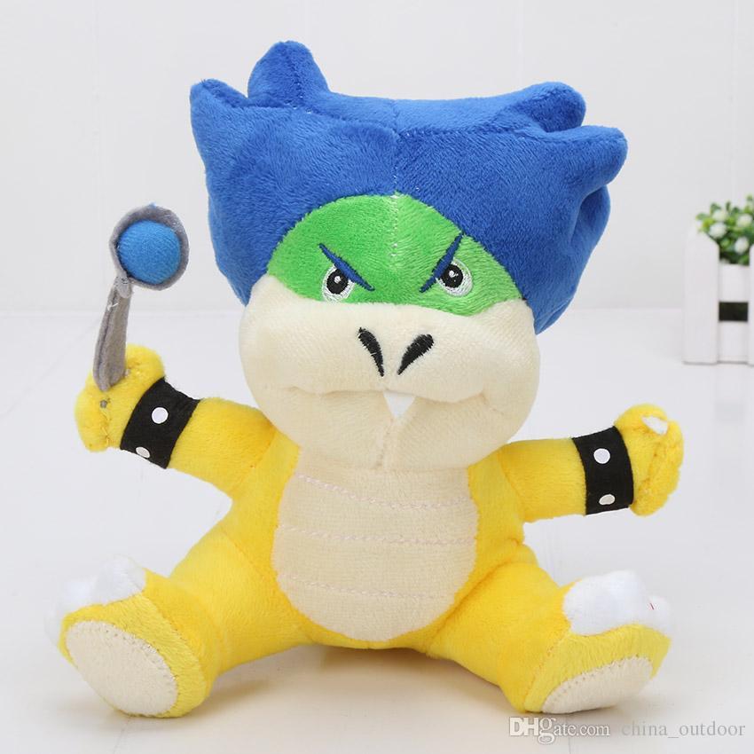 Super Mario Koopalings Plush Toys Wendy LARRY IGGY Ludwig Roy Morton Lemmy O.Koopa Plush Soft Toy Stuffed Doll