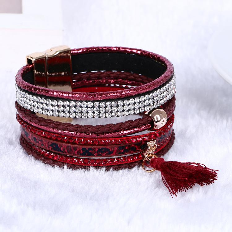fashion vision Crystal Tennis bracelets many colors for choice magnetic connect bracelet jewelry for men or women HB00056