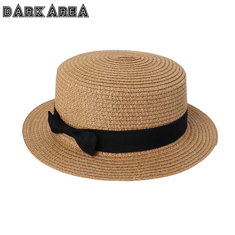 429f09fe713 Wholesale New Fashion Women S Sun Hats Wheat Panama Summer Hats For Women  Ladies Straw Hats Beach Cap Sun Visor Hat Straw Cap Black Floppy Hat Flat  Bill ...