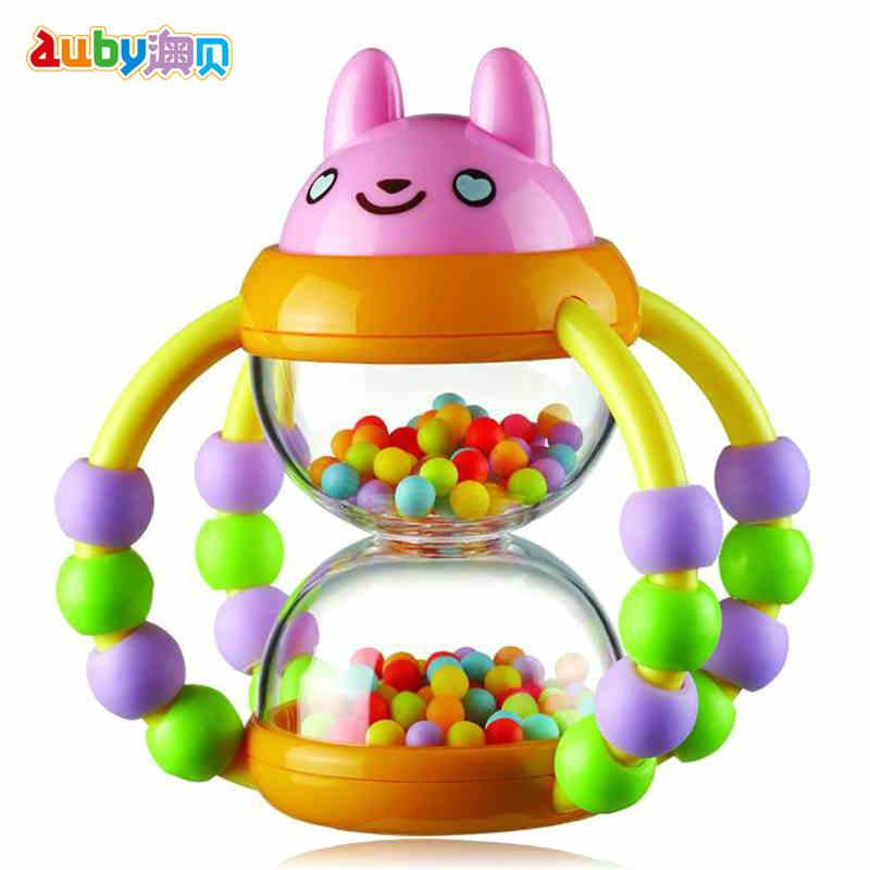2018 wholesale colorful baby toys ball rattles educational toy for babies grasping hourglass multifunction ring bell 0 18 months brand from universecp