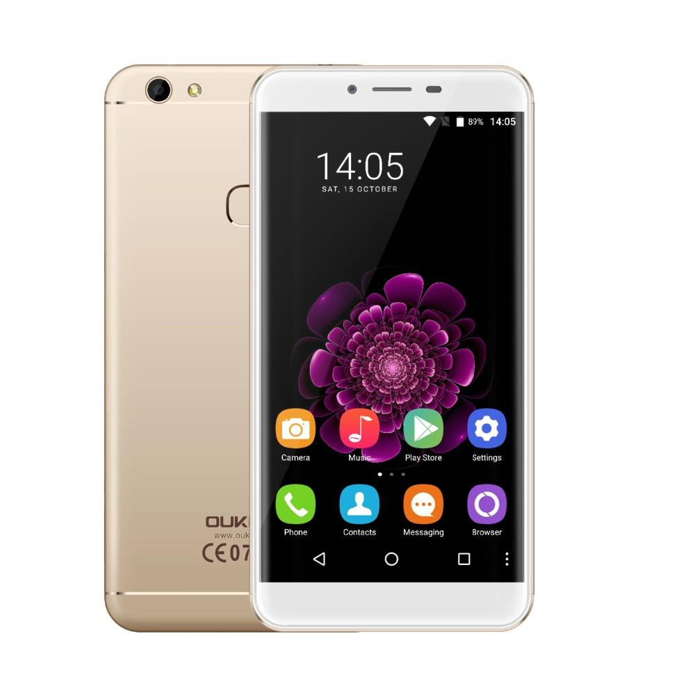 4G LTE OUKITEL U15S Touch ID 4 Go 32 Go 64 bits Octa Core MTK6750T 1.5GHz Android 6.0 Marshmallow 5.5 pouces IPS 1080P FHD 16MP Appareil photo Smartphone